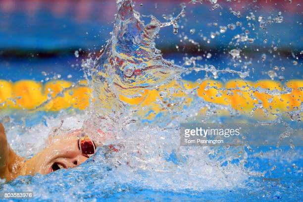 Chase Kalisz competes in the Men's 400 LC Meter Individual Medley Final during the 2017 Phillips 66 National Championships World Championship Trials...
