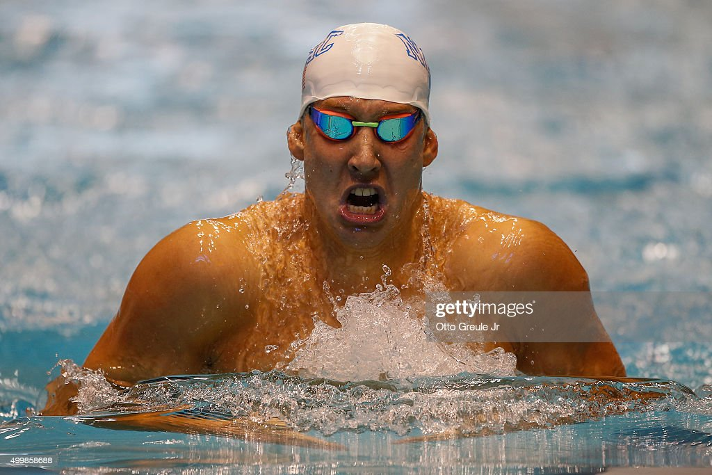 <a gi-track='captionPersonalityLinkClicked' href=/galleries/search?phrase=Chase+Kalisz&family=editorial&specificpeople=9496349 ng-click='$event.stopPropagation()'>Chase Kalisz</a> swims in the 200 Meter Individual Medley during finals at the AT&T Winter National Championships at the Weyerhaeuser King County Aquatic Center on December 3, 2015 in Federal Way, Washington.