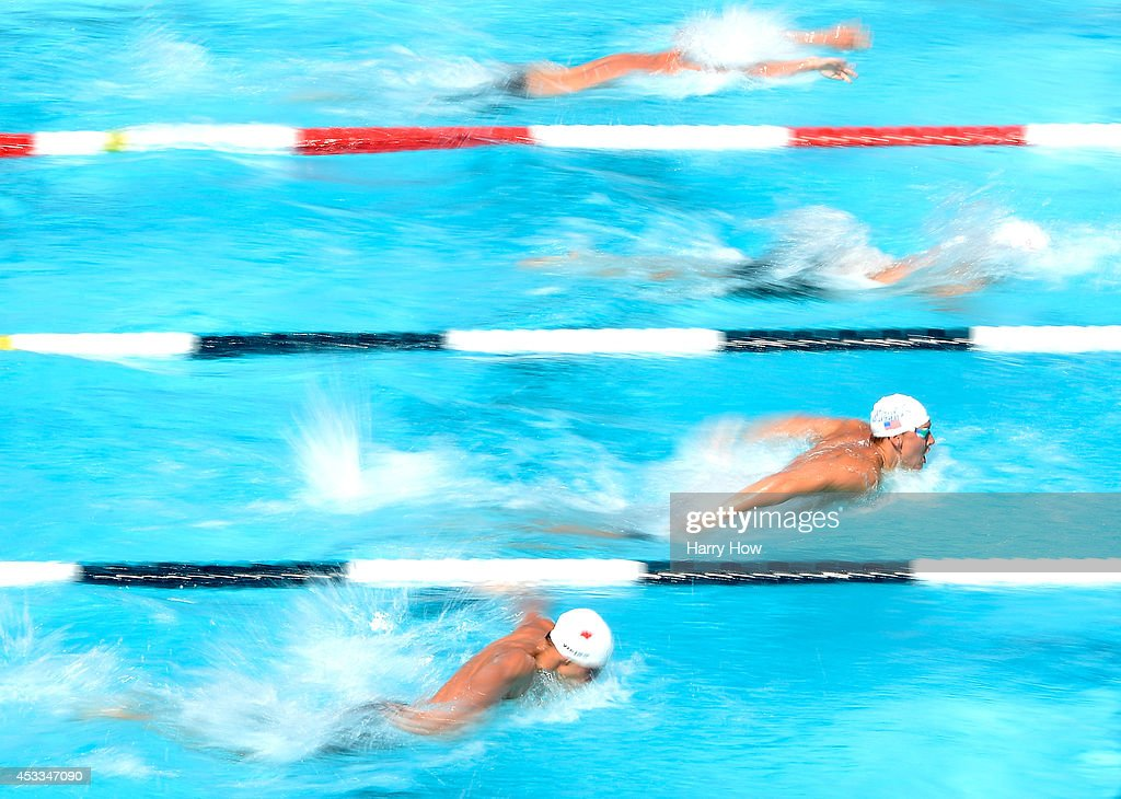 <a gi-track='captionPersonalityLinkClicked' href=/galleries/search?phrase=Chase+Kalisz&family=editorial&specificpeople=9496349 ng-click='$event.stopPropagation()'>Chase Kalisz</a> swims in the Men's 400 Meter IM Prelims during the 2014 Phillips 66 National Championships at the Woollett Aquatic Center on August 8, 2014 in Irvine, California.