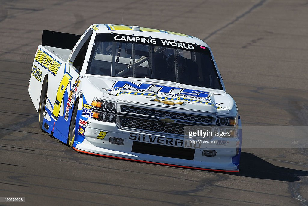 Chase Pistone drives the #9 NTS Motorsports Chevrolet during practice for the NASCAR Camping World Truck Series Drivin' for Linemen 200 at Gateway Motorsports Park on June 13, 2014 in Madison, Illinois.