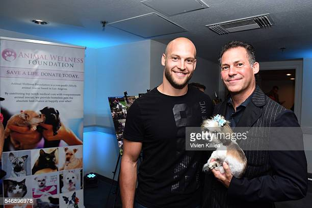 Chase Reynolds and founder and CEO of GBK Gavin B Keilly attend Cooper GBK's 2016 PreESPY Celebrity Lounge Poker Tournament at The Line Hotel on July...