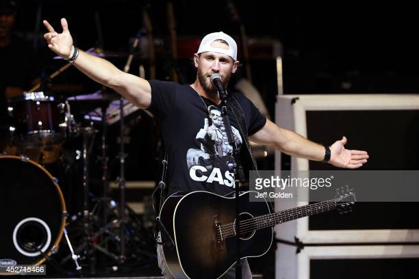 Chase Rice performs at The Greek Theatre on July 25 2014 in Los Angeles California