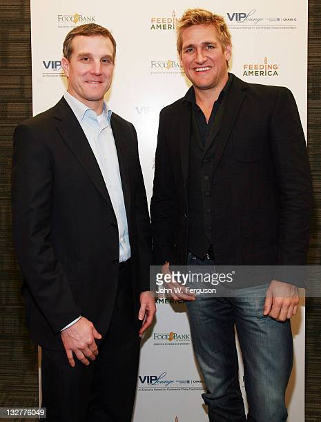 Chase Senior Vice President of Card Services David Gold and Author and Celebrity Chef Curtis Stone attend Continental VIP Lounge From Chase at Short...