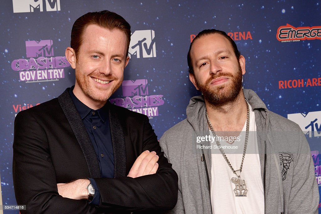 Chase & Status backstage during 'MTV Crashes Coventry' at Ricoh Arena on May 27, 2016 in Coventry, England.