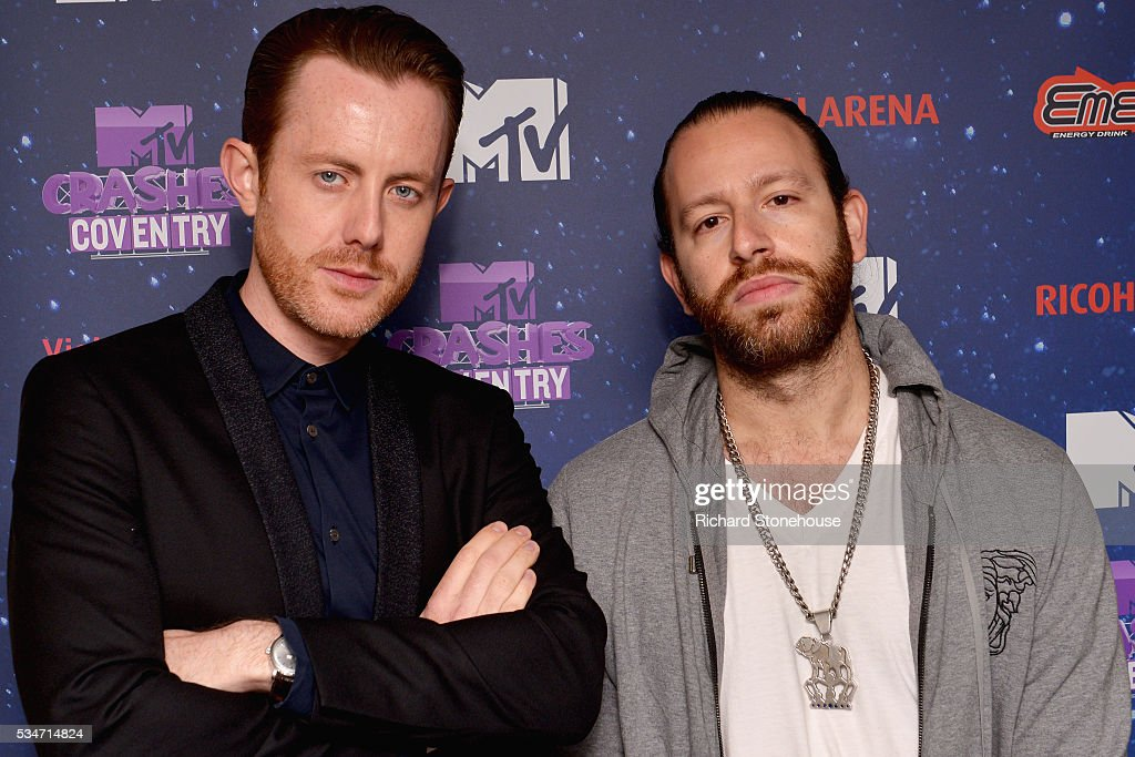 <a gi-track='captionPersonalityLinkClicked' href=/galleries/search?phrase=Chase+%26+Status&family=editorial&specificpeople=6672515 ng-click='$event.stopPropagation()'>Chase & Status</a> backstage during 'MTV Crashes Coventry' at Ricoh Arena on May 27, 2016 in Coventry, England.