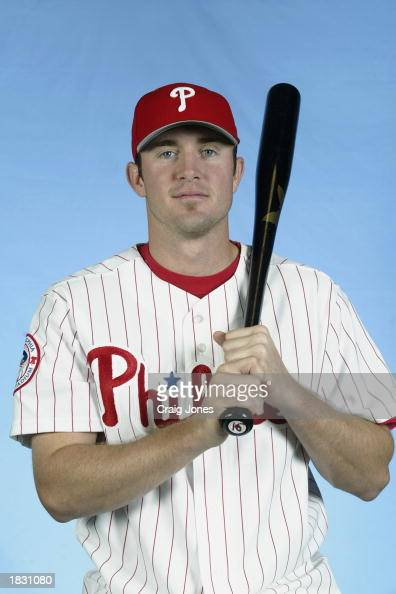 Chase Utley of the Philadelphia Phillies poses for a portrait during the Phillies Media Day at Jack Russell Stadium in Clearwater Florida