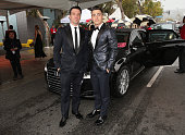 Chasez and Colton Haynes attend the 23rd Annual Elton John AIDS Foundation Academy Viewing Party in an Audi A8 L TDI on February 22 2015 in Los...
