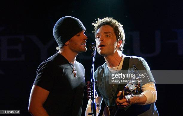 JC Chasez and Richard Marx during Richard Marx Performs Live at Key Club at Key Club in Los Angeles California United States