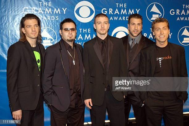JC Chasez Chris Kirkpatrick Justin Timberlake Joey Fatone and Lance Bass of *N Sync