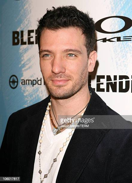 JC Chasez during 2006 Blender/Oakley X Games Kick Off Party Red Carpet at Element in Hollywood California United States