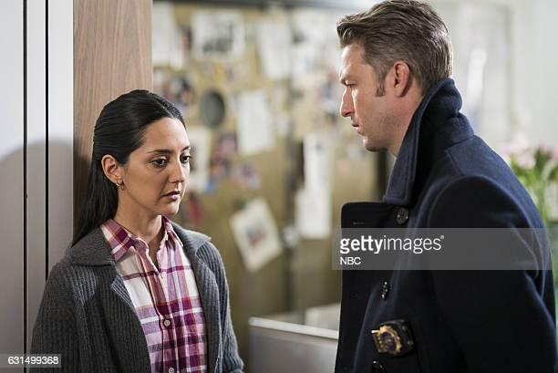 UNIT 'Chasing Theo' Episode 1813 Pictured Adriana DeGirolami as Gloria Ramirez Peter Scanavino as Dominick 'Sonny' Carisi