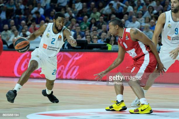 Chasson Randle of Real Madrid during the 2017/2018 Turkish Airlines Euroleague Regular Season Round 3 game between Real Madrid v AX Armani Exchange...