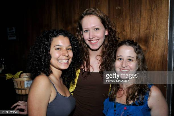 Chastidy Roman Jessica Giles and Lindsay Klemas attend The East Harlem School presents 2010 Spring Poetry Slam at Highline Ballroom on May 4 2010 in...