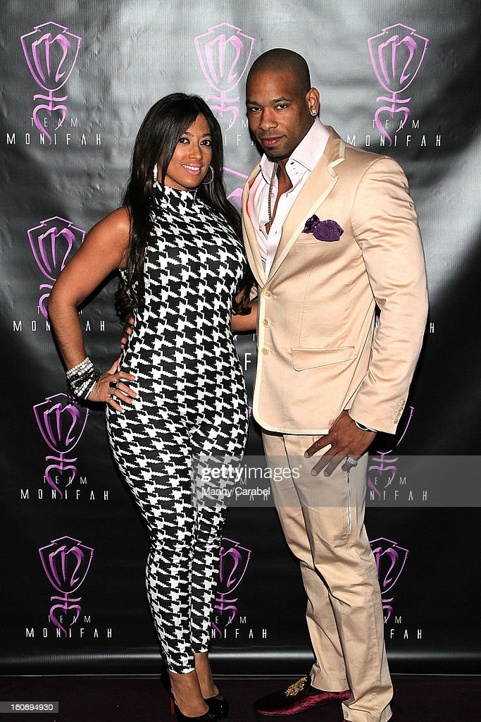Chastity LeCour and DL Cl Smooth attend Monifah's 'In Her Skin' Showcase at Katra Lounge on February 6, 2013 in New York City.