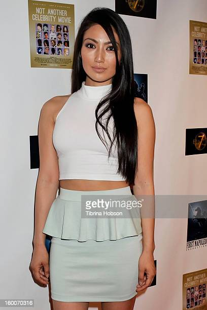 Chasty Ballesteros attends the 'Not Another Celebrity Movie' Los Angeles premiere at Pacific Design Center on January 17 2013 in West Hollywood...