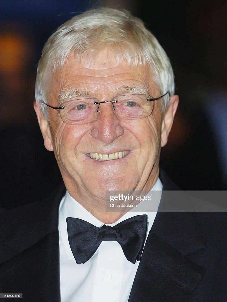 TV chat show host Michael Parkinson attends the Royal Gala Premiere of Lord Andrew Lloyd Webber's new musical 'The Woman In White' at the Palace Theatre, Shaftesbury Avenue on September 13, 2004 in London.