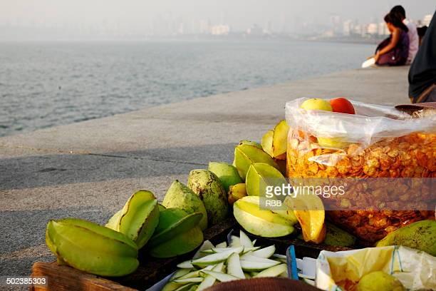 Chat Vendor at Marine Drive Mumbai