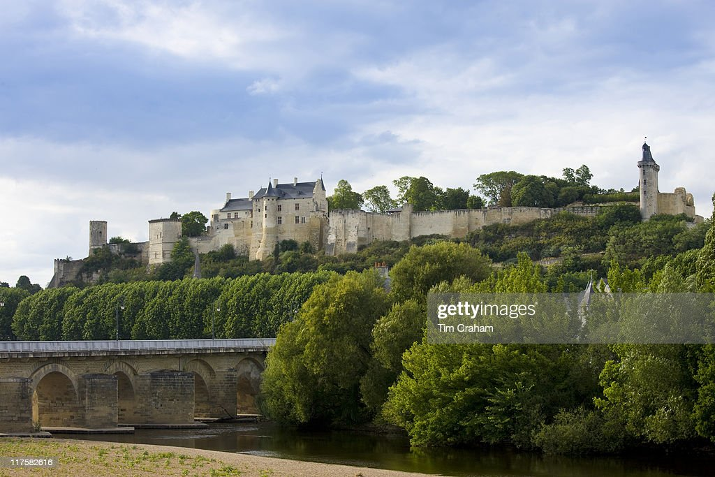 Chateau Chinon and the River Vienne in the Loire Valley France
