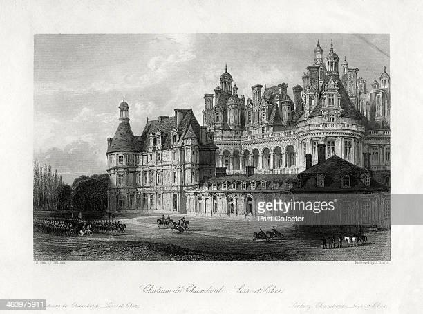 'Chateau de Chambord LoiretCher' France 1875 The 16thcentury palace of Francois I