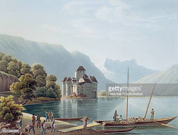 Chateau de Chillon by Lake Geneva