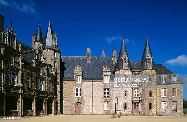 Chateau du Rocher 13th16th century Mezangers Normandy France