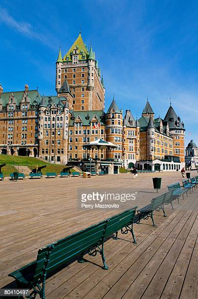 Chateau Frontenac and Terrace Duferin in Quebec City, Quebec, Canada