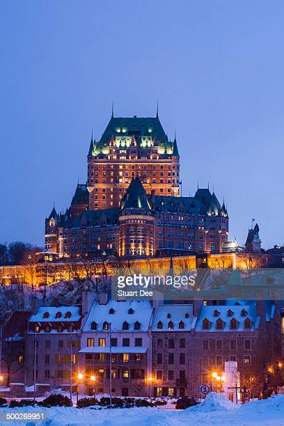 Chateau Frontenac at twilight, Quebec City