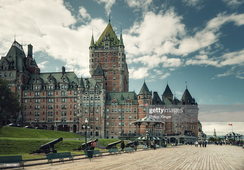 Chateau frontenac stock photo getty images for Hotels quebec