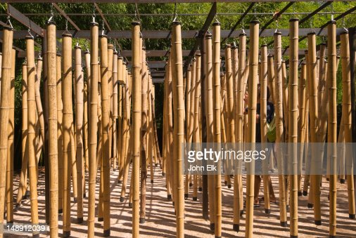 Chateau Garden Hanging Bamboo Poles Stock Photo Getty Images