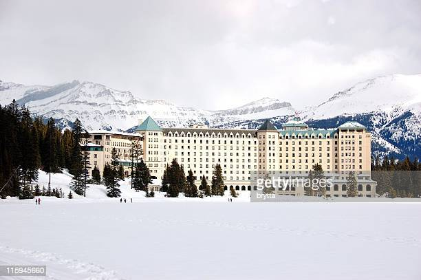 Chateau Lake Louise in winter,Banff National Park,Alberta,Canada