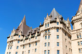 Chateau Laurier Hotel in Ottawa. This castle like hotel  was named after Sir Wilfred Laurier who was the Prime Minister of Canada. It opened to the public in 1912 in downtown Ottawa.