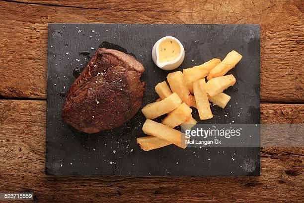 chateaubriand steak with fries meal