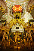 Cathedral in the Peter and Paul Fortress, St Petersburg, Petropavlovsk, view from inside.