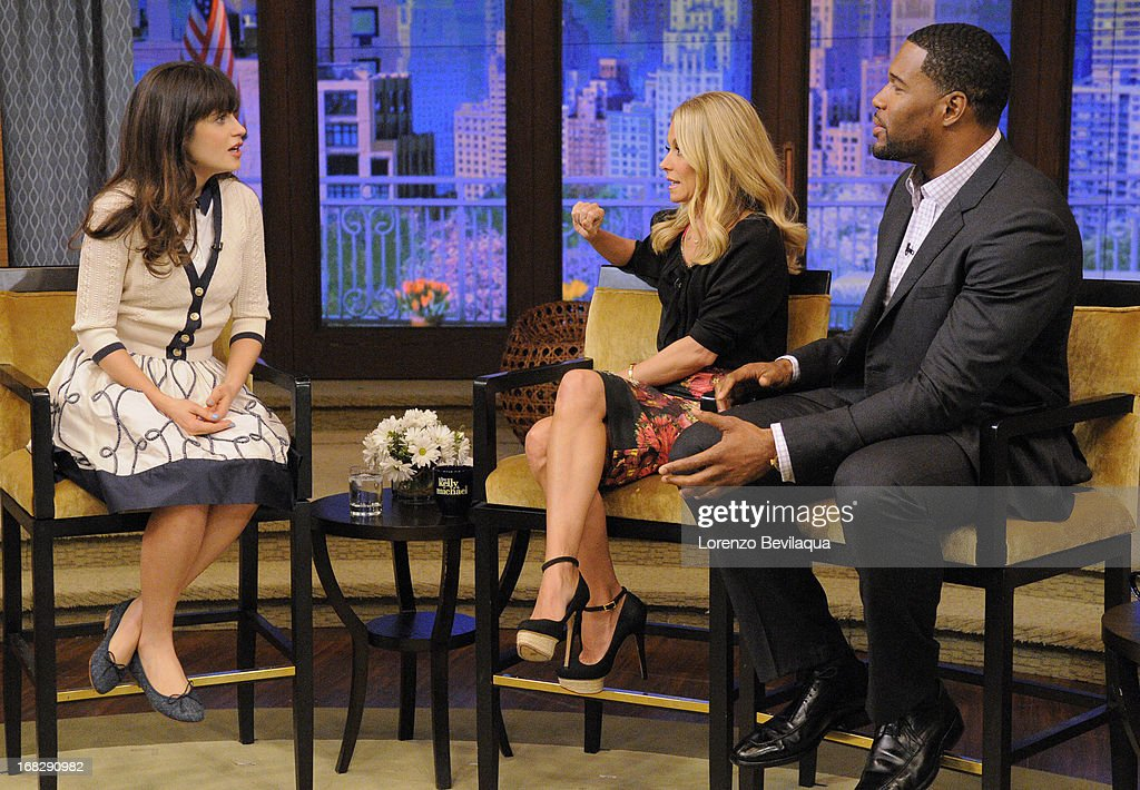 "DESCHANEL chats about the series ""New Girl"" on 'LIVE with Kelly and Michael,' distributed by Disney-ABC Domestic Television. ZOOEY"