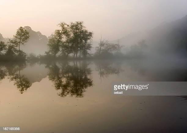 Rivière Chattahoochee tôt le matin