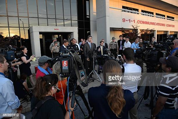Chattanooga Mayor Andy Burke during a press conference at the 911 Communications Center on July 16 2015 in Chattanooga Tennessee According to reports...