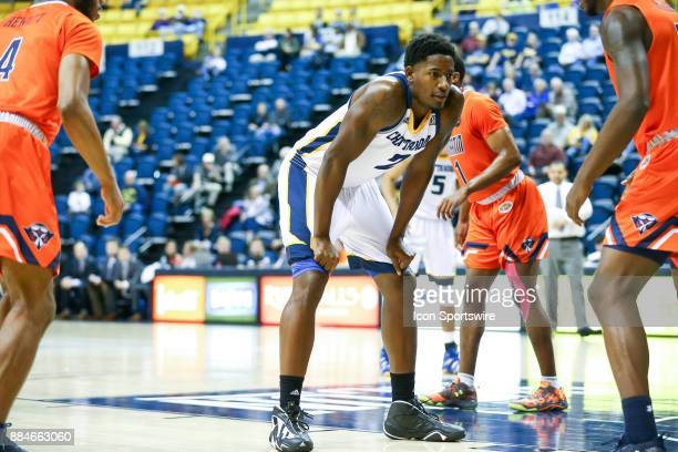 Chattanooga Mocs guard Josha Phillips waits for the inbounds pass during the first half of the college basketball game between UTMartin and...