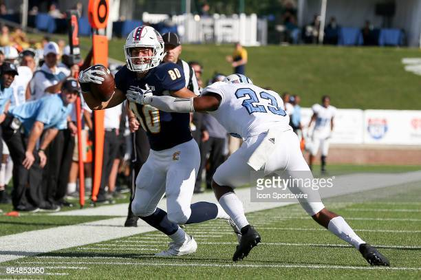 Chattanooga Mocs wide receiver Joe Parker runs the ball after the catch during the college football game between The Citadel Bulldogs and the UT...