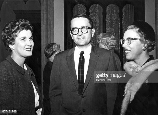 Chatting at a recent informal party given by Mrs McIntosh Buell were Mrs Ned Steel John Emery and Mrs Jack Pechman Credit Denver Post