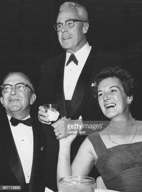 Chatting at Wednesday night's Cognac Festival at the Brown Palace Hotel were Douglas Carruthers and Mr and Mrs George Hayden Credit Denver Post