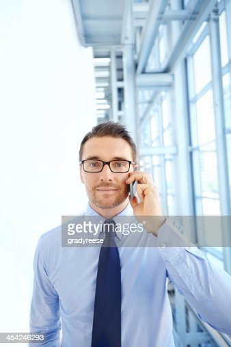 Chatting to a valued client : Stock Photo