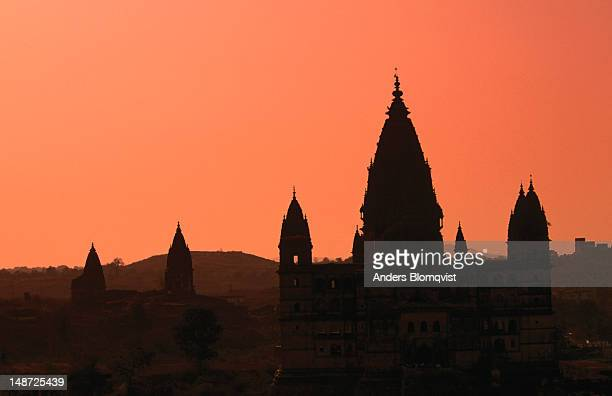 Chaturbhuj temple at sunset.