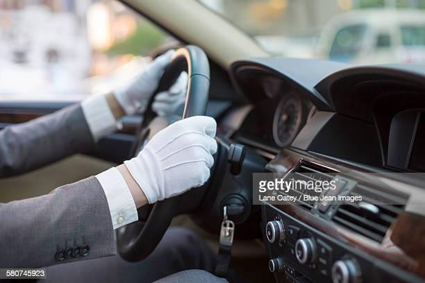Chauffeur driving car