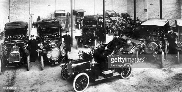 Chauffeurs showing private parking spaces inside the main garage