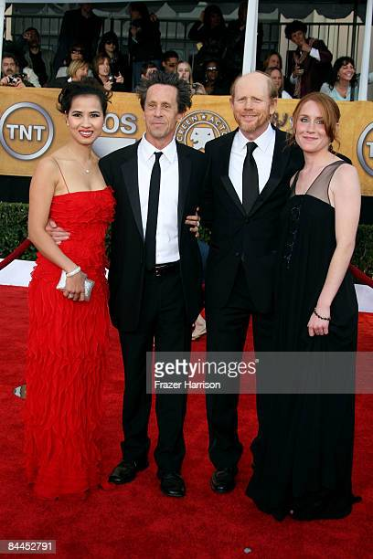 ChauGiang Thi Nguyen producer Brian Grazer director Ron Howard and daughter Paige Howard arrive at the 15th Annual Screen Actors Guild Awards held at...