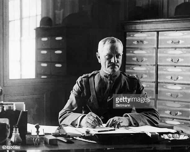General John J Pershing at his desk at Chaumont Photographed during World War I
