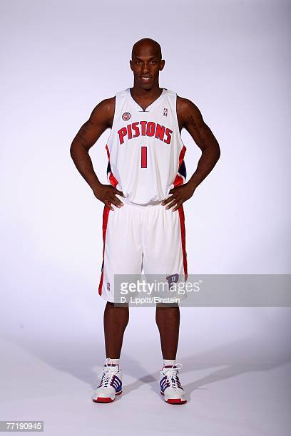 Chauncey Billups of the Detroit Pistons poses for a portrait during NBA Media Day at the Pistons Practice Facility on October 1 2007 in Auburn Hills...