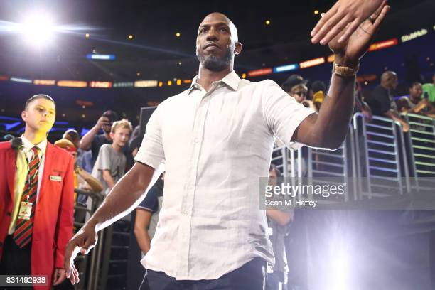 Chauncey Billups of the Killer 3s is introduced during week eight of the BIG3 three on three basketball league at Staples Center on August 13 2017 in...