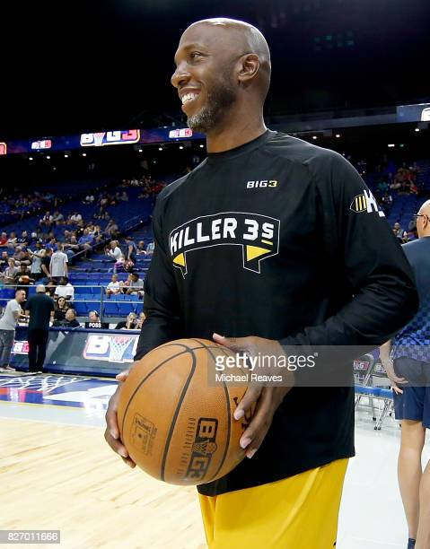 Chauncey Billups warms up during week seven of the BIG3 three on three basketball league at Rupp Arena on August 6 2017 in Lexington Kentucky