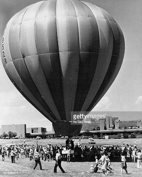 JUL 1 1972 JUL 2 1972 Chauncey Dunn's Balloon Lifts Into The Air Air During Balloon Race The Event was part of Saturday's Festival America at Denver...